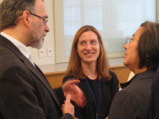 Rev. Alberto Rocca, Benedetta Spadaccini, and Lisa Pon